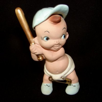 Vintage Freeman McFarlin Baseball Baby Figurine w Diapers