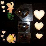 Plastic Mold - 3 Graduating Heart Wall Hanging Plaques