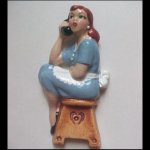 Dolores - Retro Vintage Pinup Girl on Telephone Wall Plaque