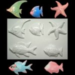 Plastic Mold - Fish and Starfish Wall Plaque