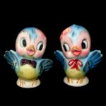 Vintage Lefton BlueBird Salt & Pepper Shakers PY