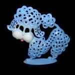 Vintage Poodle Dog Earring Necklace Jewelry Holder