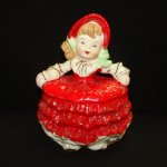 Gorgeous Vintage Girl Powder or Candy Box