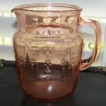 Vintage Princess Pnk Depression Glass Pitcher