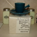 '99 Vintage Flawless Fiesta Juniper A/D Demi Cup Saucer in Box