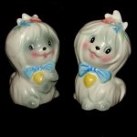 Vintage Lefton Toodles Dog Salt & Pepper Shakers