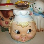 RARE Vintage BAKER BOY MUSIC Box COOKIE JAR - Figural Chef