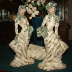 Vintage Hedi Schoop Lady Spill Vase Figurines and Compote