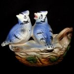 Vintage Rubens Blue Bird Planter
