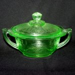 Anchor Hocking Princess Depression Glass Sugar Bowl
