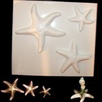 Plastic Mold - Three Starfish Wall Plaques for Mermaids