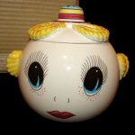 MIB Vintage Royal Sealy Google Eye Girl Cookie Jar Canister