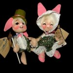 26 Year Old Annalee Bunny Rabbit Girl Boy Dolls