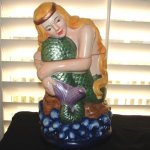 Vintage Mermaid Cookie Jar