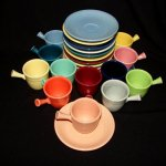 Vintage Fiesta A/D Demi Stick Cup and Saucer - 12 Discontinued